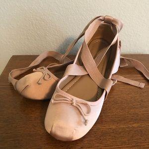 GUC Sz 9.5 Mossimo Pink Satin Ballet Flats